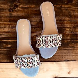 52aacdc0457507 Express Shoes - EXPRESS - 🆕 Jeweled Slide Sandals🆕